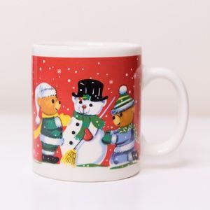 Vintage Holiday Bear Christmas Mug